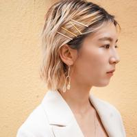 Asymmetry Pierce or Earring  (SV925 Plated)