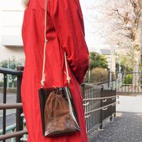 Square Mini PVC Bag  -Black-
