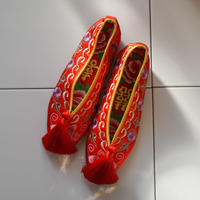 【Select Item】Tassel Embroidery Shoes - Red-