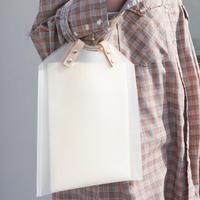 White PVC Studs Bag