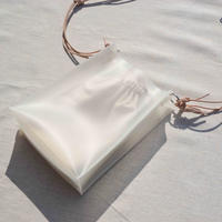 Square Mini PVC Bag  -White-