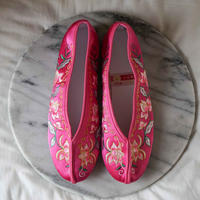【Select Item】Big Flower Embroidery Shoes - Pink-