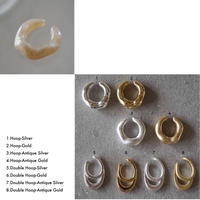 Shine Beige & Metal Earcuff Set