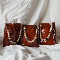 Square PVC Bag -Brown-