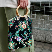 China Pattern Bag -Black-