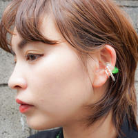 Green ×Clear & Metal Earcuff Set