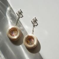 Wood Flower Earring2 (ピアス/チタンピアス変更可)