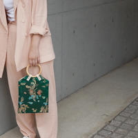 China Pattern Bag -Green-