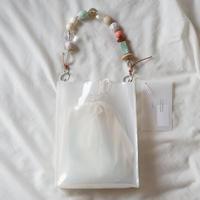 Square PVC Bag -White-