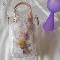Flower Fur Bag  ●Ivory●  K~P