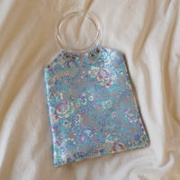 Chinoiserie Handbag -Gray-