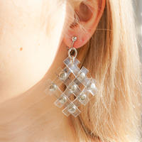 Clear Braid Earring