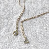 ishi jewelry / slice diamond  necklace / brass bezel / 14kgf chain