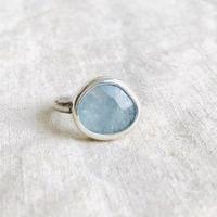 Ishi jewelry  / aquamarine silver ring / イシジュエリー / アクアマリン シルバーリング