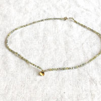 ishi  jewelry /tiny  rough diamond  bead chain with 18k gold plate / イシジュエリー / ラフダイアモンドビーズネックレス