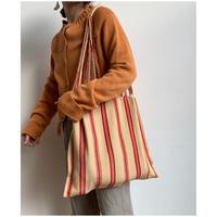 pips / cotton handwoven hammock bag / beige x red