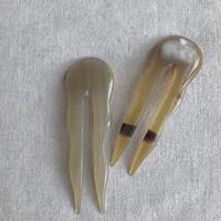 kostkamm / horn decorative comb  / 10 cm  / 9432 / コストカム / 水牛角簪