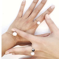 juju made /porcelain dear ring  /ジュジュメイド/ ポーセリンリング