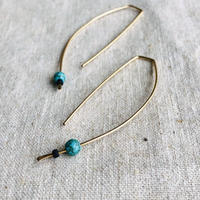 Cinq / eclipse  turquoise earring /gold filled  with turquoise / シンク 14kゴールドフィルド ターコイズピアス