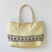 pips /  palm leaf basket tote bag pattern / ピップス/ パームリーフバスケットバッグ/ パターンブラウン