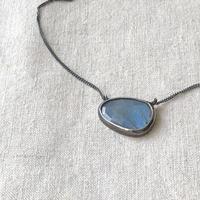 Ishi jewelry / labradorite    necklace / oxidized silver bezel / oxidized silver chain