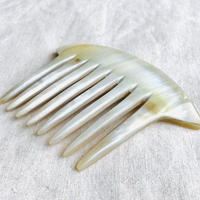 kostkamm / horn decorative comb  / 12x8 cm  / コストカム / 水牛角簪