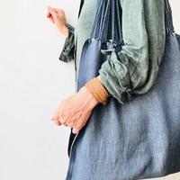 pips / cotton hand woven  hammock bag/ gray x natural  / ピップス / コットン ハンモックバッグ