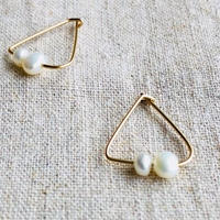 cinq / triangle pearl  earring  / 14 K   gold filed / シンク /トライアングルパール ピアス