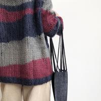 "pips /cotton handwoven hammock / black  / mini size / ピップスミニハンモックバッグ """