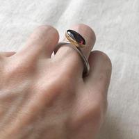 ishi jewelry /  garnet  silver ring / イシジュエリー /  ガーネットシルバーリング
