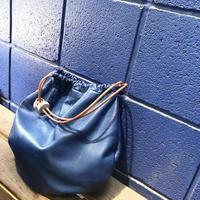 juju made / royal blue leather circle tote / ジュジュ メイド / レザーサークルトートバッグ
