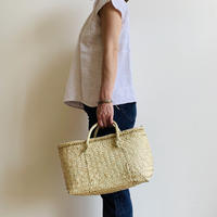 pips /  palm leaf basket tote bag with palm leaf  handle   / M size