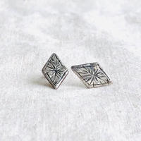 datter industry / starry diamond studs / silver / ダッターインダストリー / シルバーピアス