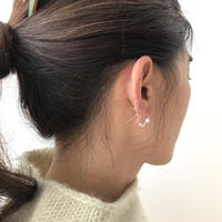 cinq / Maze pearl  earring / 14k rose gold filled / シンク / パール ローズゴール ピアス