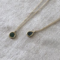 Ishi jewelry slice diamond necklace blue diamond/ 14K gold filled chain / イシジュエリー /スライスダイヤモンドネックレス