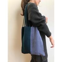 pips / cotton handwoven hammock bag / teal green  /gray / ピップス / コットン ハンモックバッグ