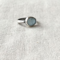 Ishi jewelry  / aquamarine silver ring