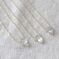 Ishi jewelry / Herkimer   diamond  necklace / 14k gold filled chain