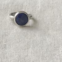 Ishi jewelry / natural stone ring / lapis lazuli / silver ring