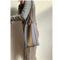 pips / cotton hand woven mini  hammock bag   / Gray