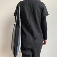 pips / cotton hand woven  hammock bag/ black  / ピップス / コットン ハンモックバッグ