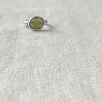 Ishi jewelry / Green Garnet /  silver ring