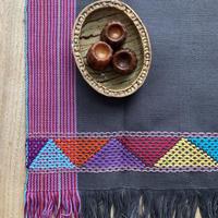 Hand woven cotton mat