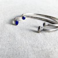 ishi jewelry /double stone cuff  /  lapis / 925 silver