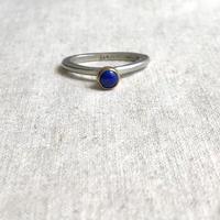 ishi jewelry / lapis silver ring / brass bezel / イシジュエリー / ラピスラズリ シルバーリング