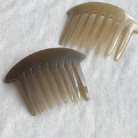 kostkamm / horn decorative comb  / 12x8 cm  / コストカム / 水牛角簪