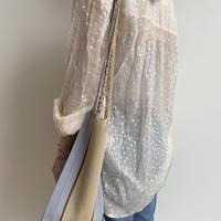 pips / cotton hand woven mini  hammock bag   / Gray