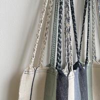 pips / cotton handwoven hammock bag /  stone x sage green
