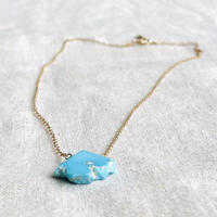 ishi jewelry / slice  natural stone necklace   / turquoise / イシ ジュエリー / ターコイズスライスネックレス