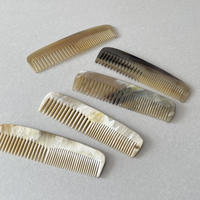 Kostkamm / Horn hairdressing  comb / 15.5 cm  / 300 H / wide & narrow
